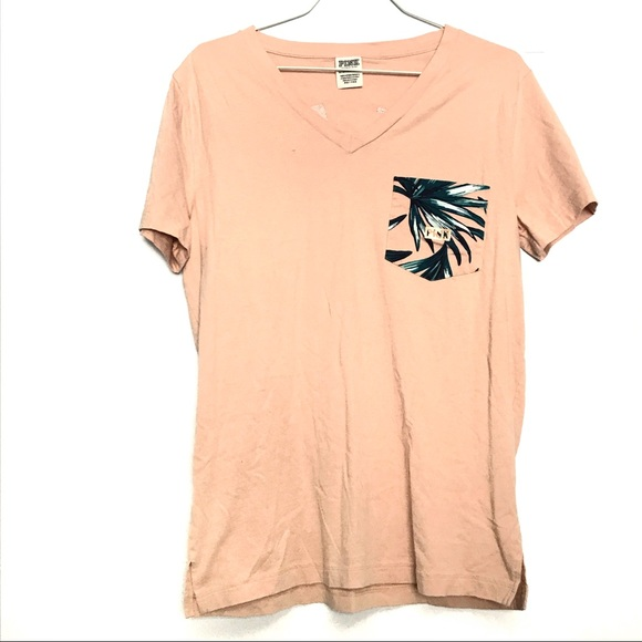 Victoria/'s Secret PINK Bling Tropical Tee XS